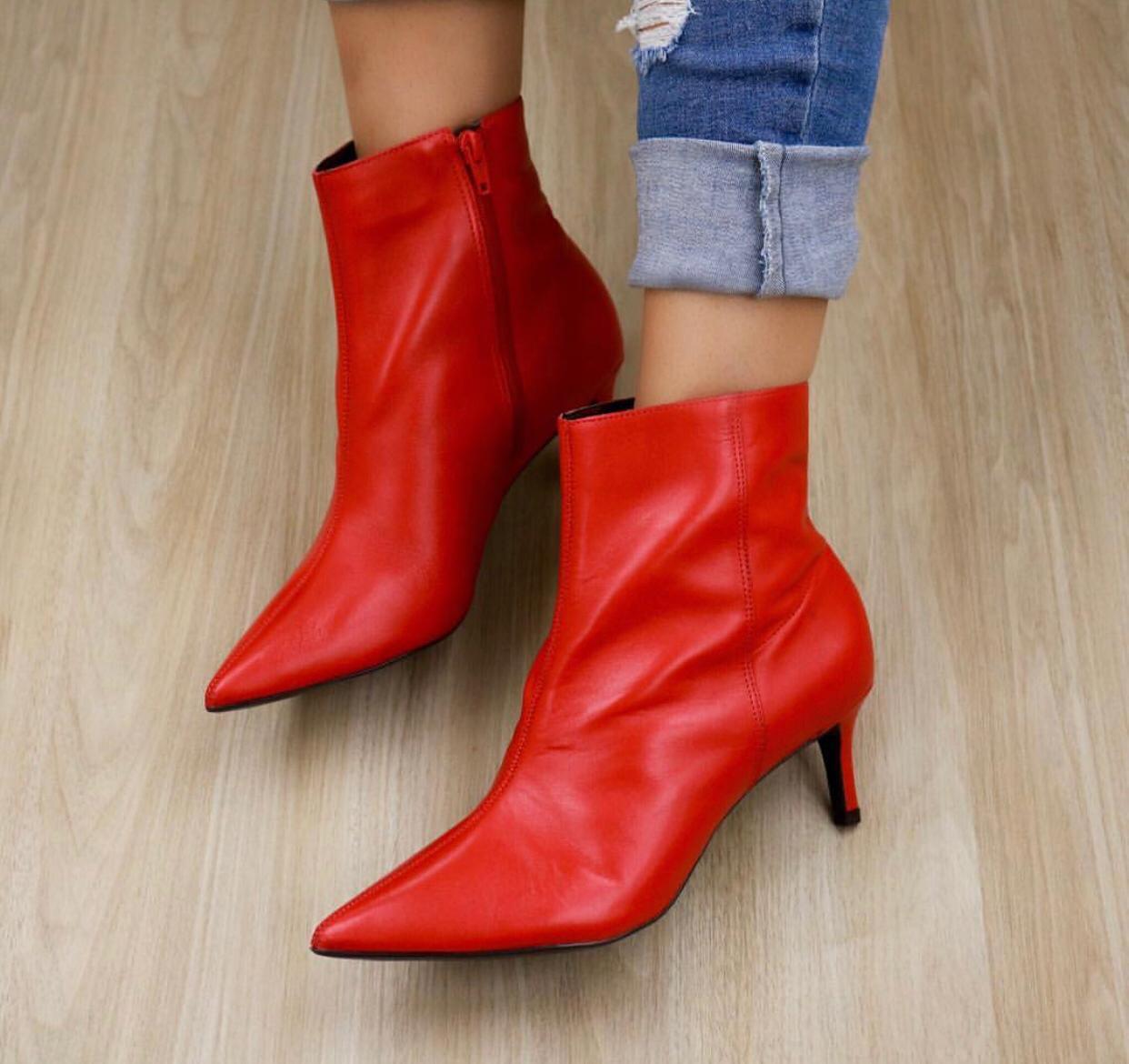 Boots Claudia Vermelha