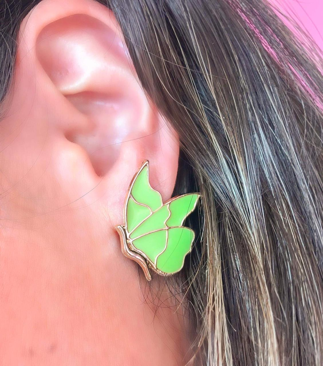Brinco Butterfly Verde