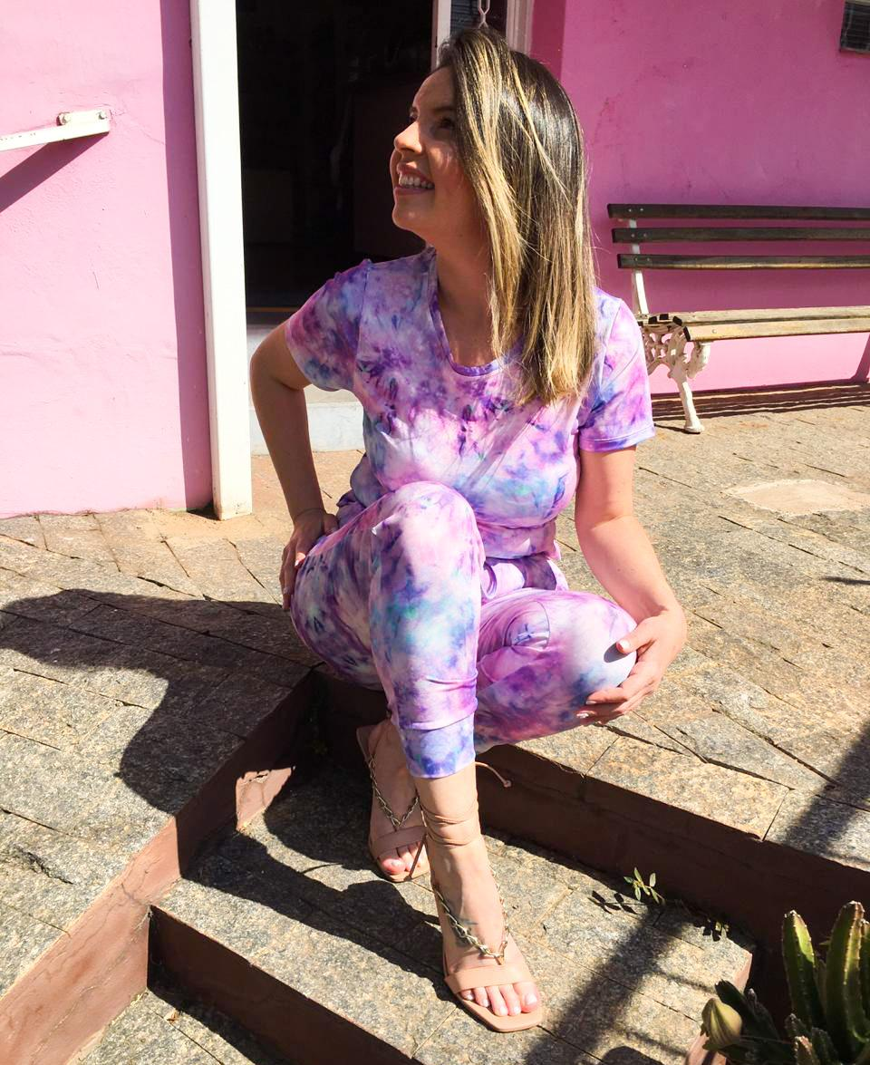 Conjunto Sheila Tie Dye Lilás