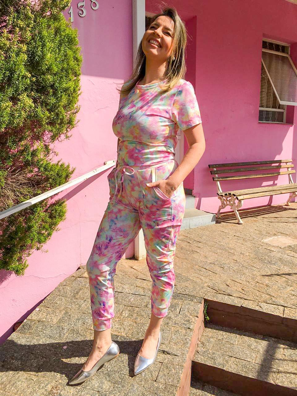 Conjunto Sheila Tie Dye Pink