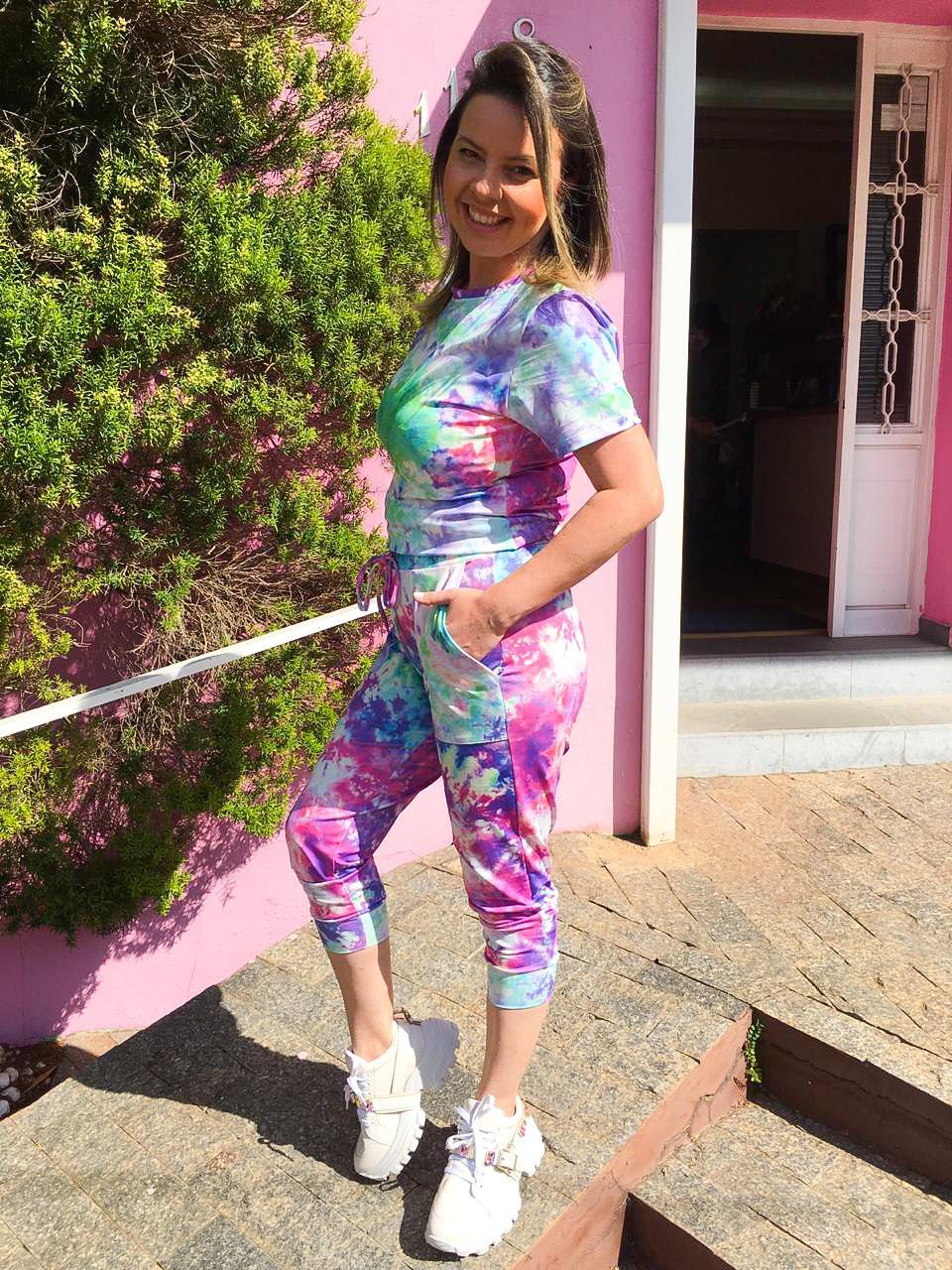 Conjunto Sheila Tie Dye Roxo