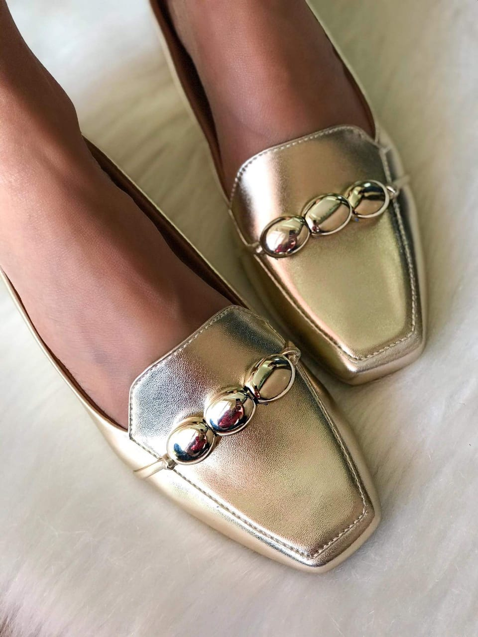 Mocassim Anabel Ouro