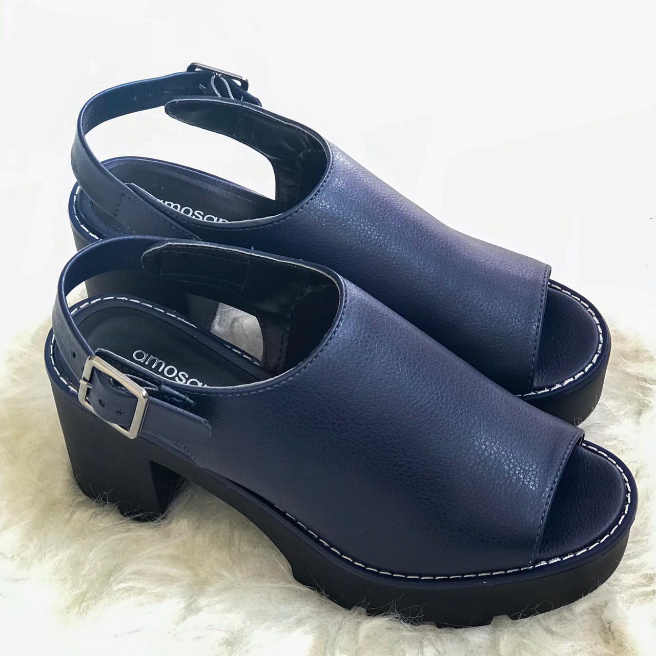 Sand Boots Tratorada Bia Azul Marinho