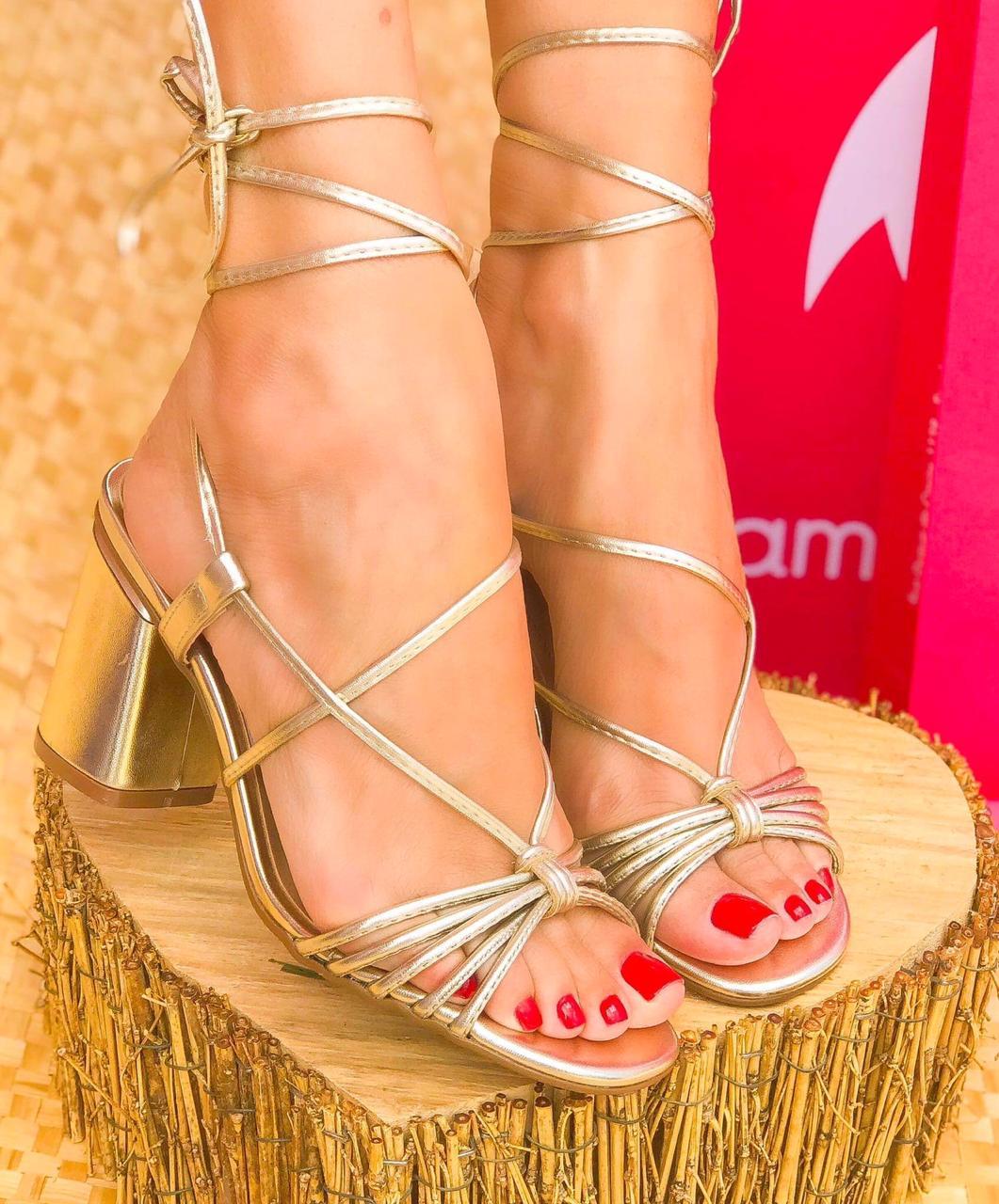 Sandália Adele Ouro