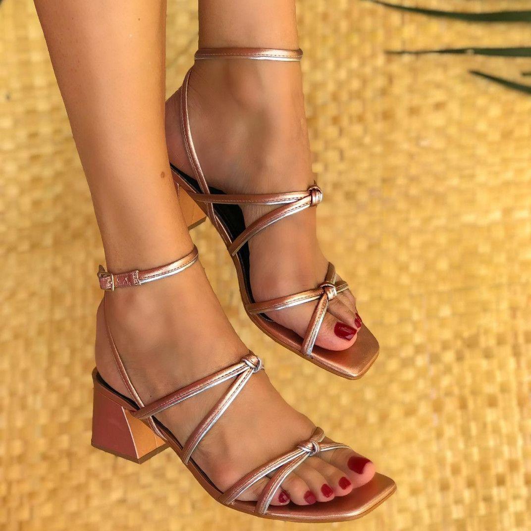 Sandália Belle Rosé/Prata