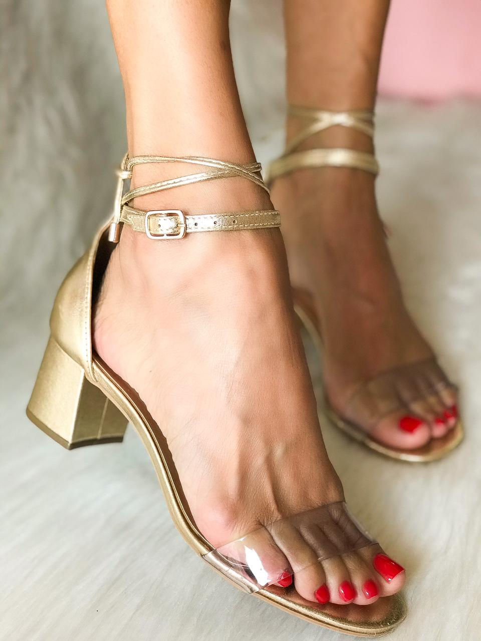 Sandália Gisele Ouro