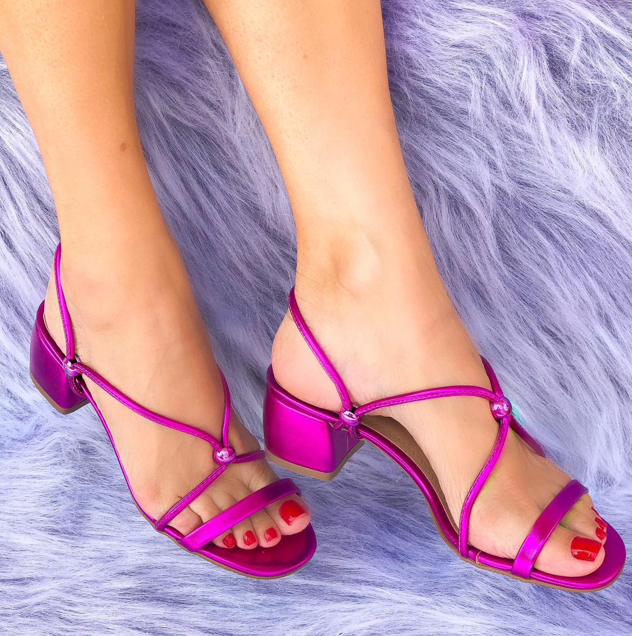 Sandália Laysa Pink Metalizado