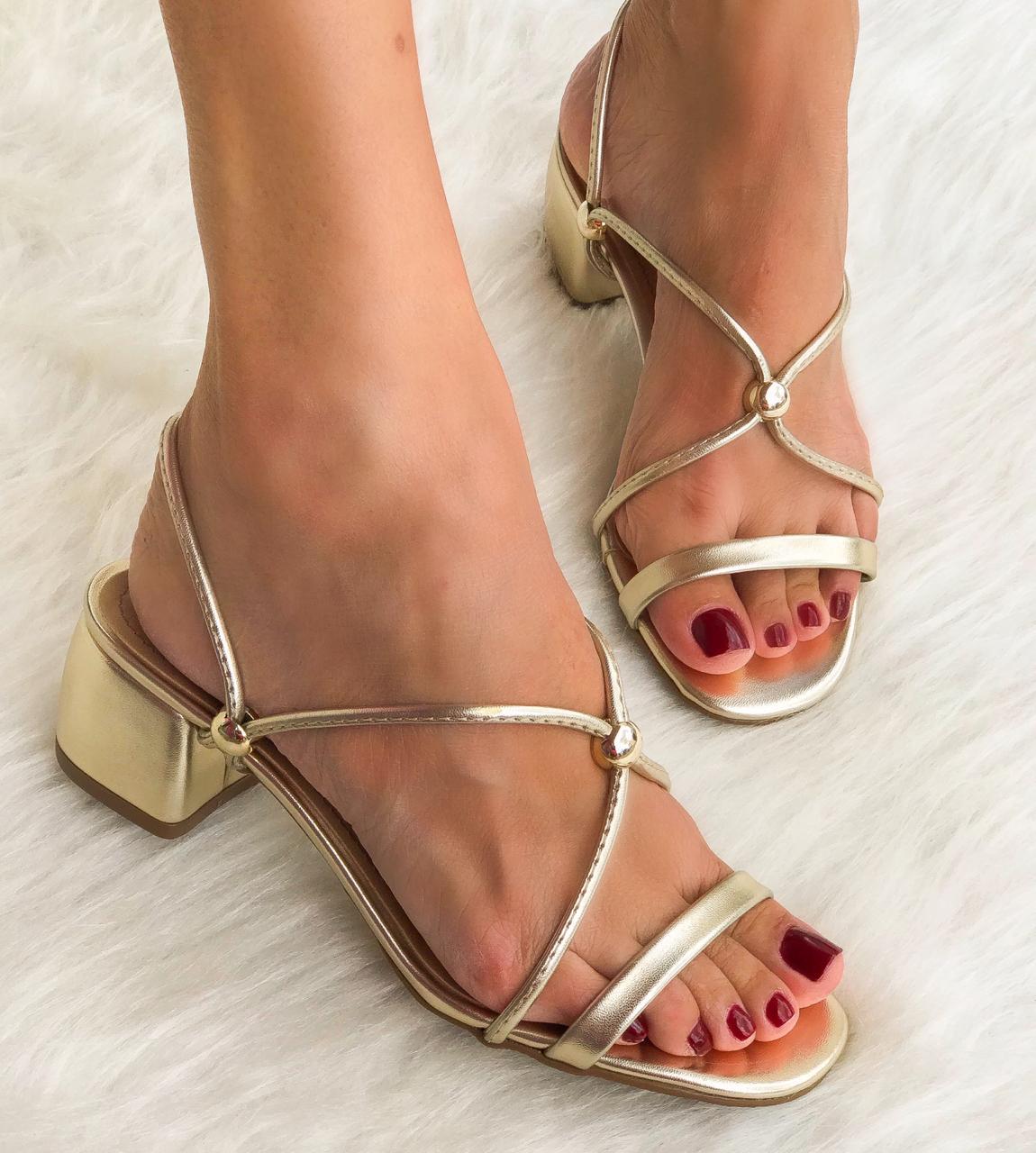 Sandália Laysa Ouro