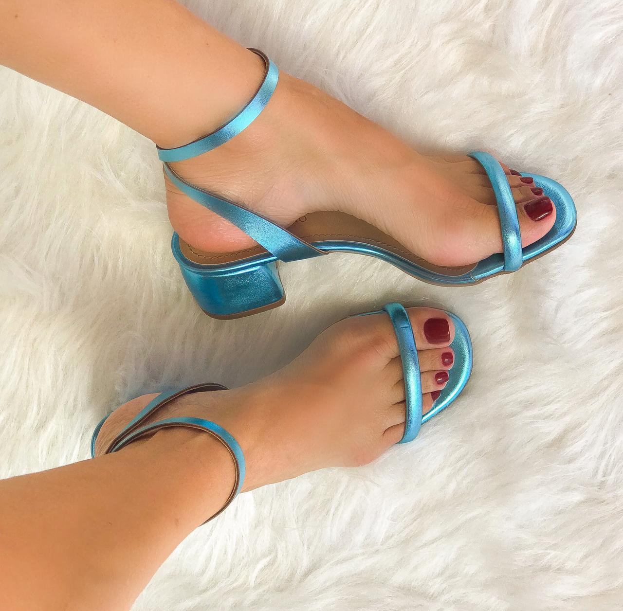 Sandália Léa Azul Turquesa