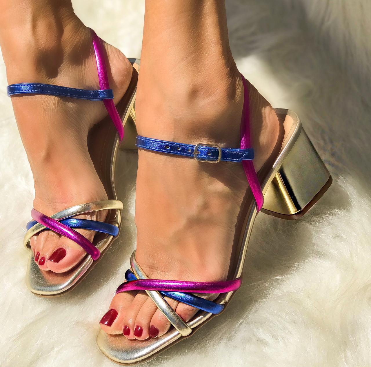 Sandália Lizie Ouro
