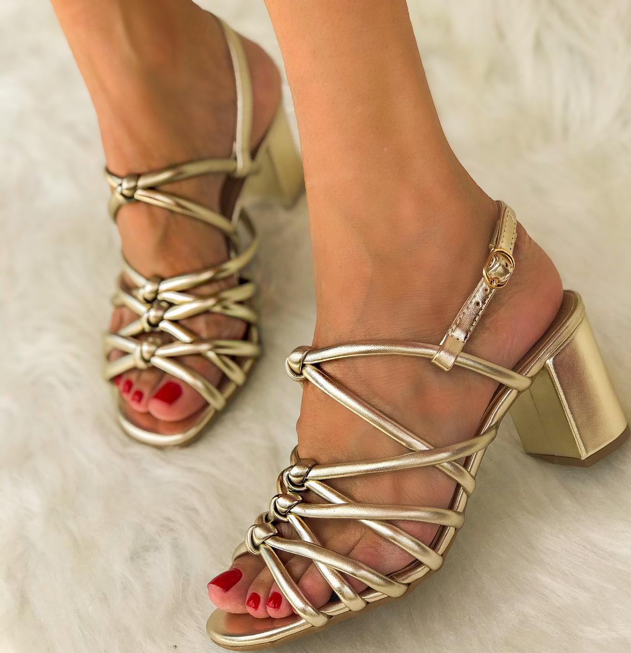Sandália Mariah Ouro