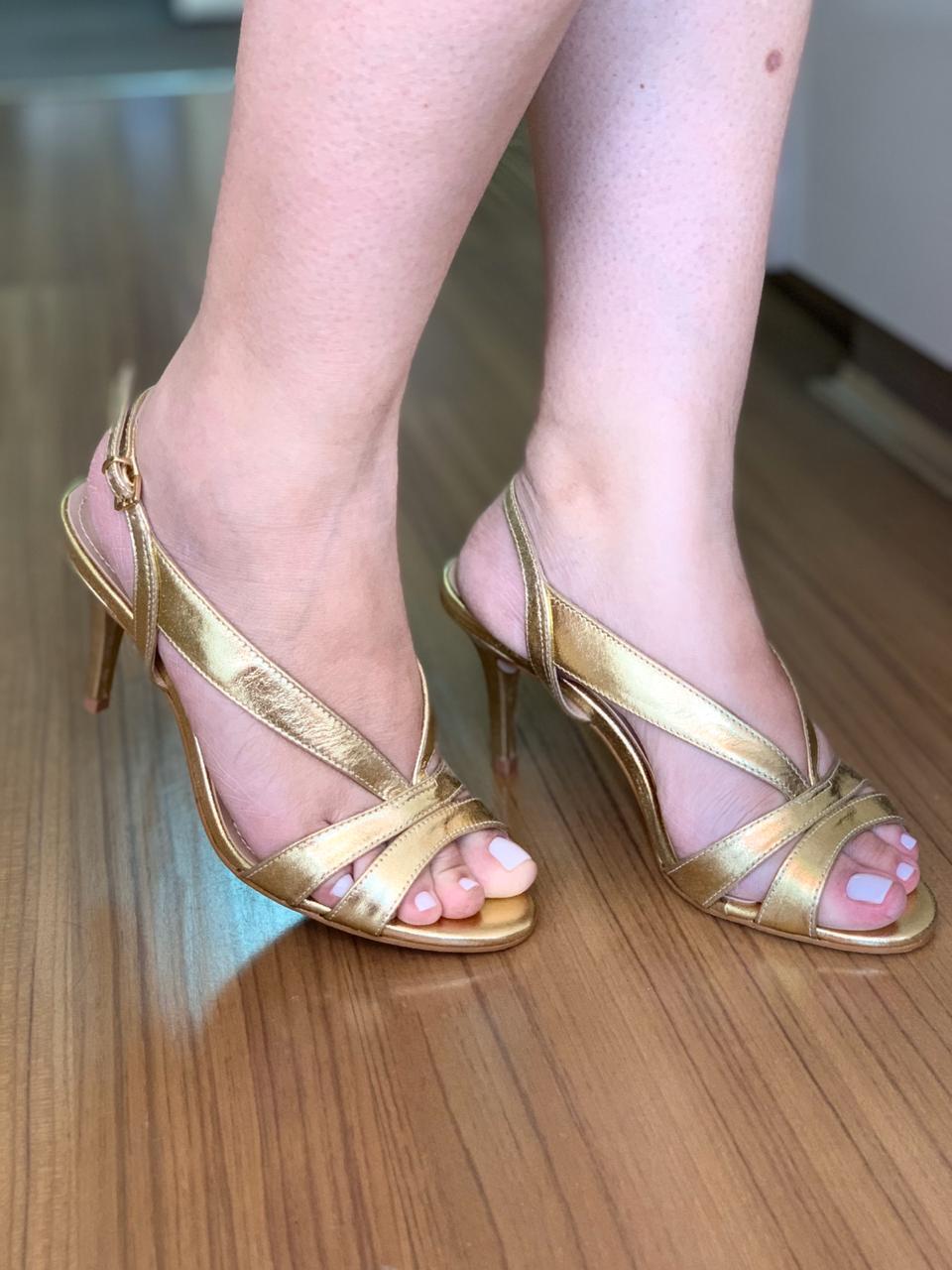 Sandália Natacha Ouro