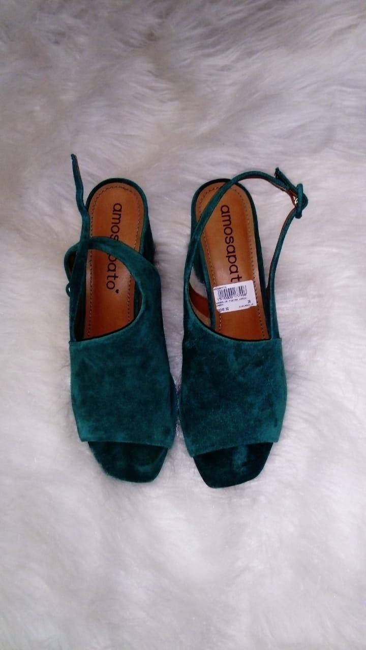 Sandália Pietra verde