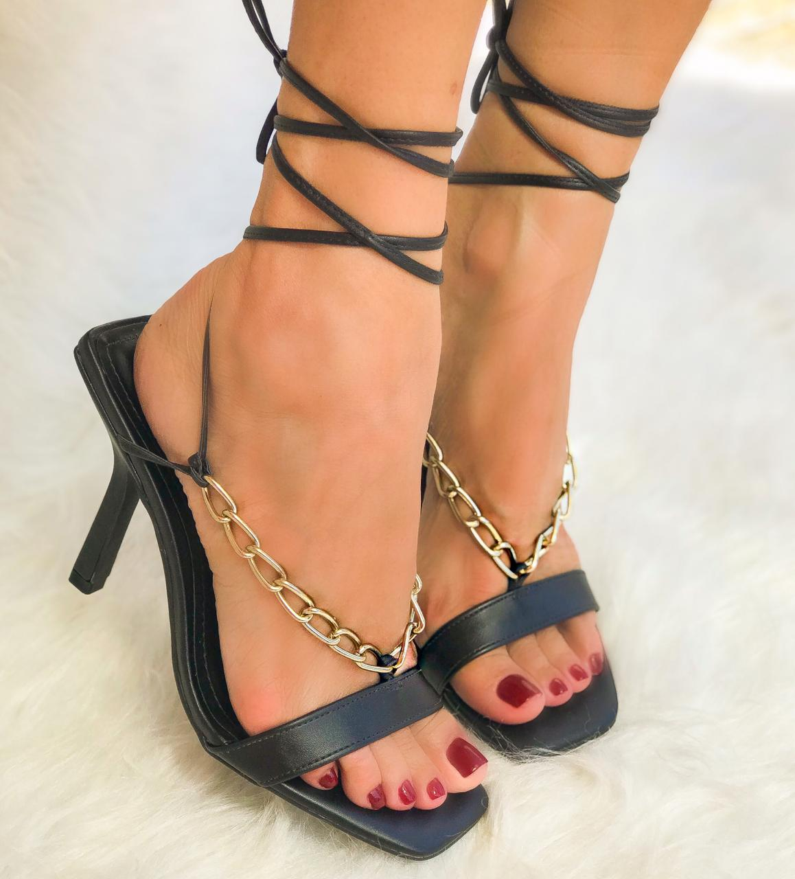 Sandália Scarlet Preto