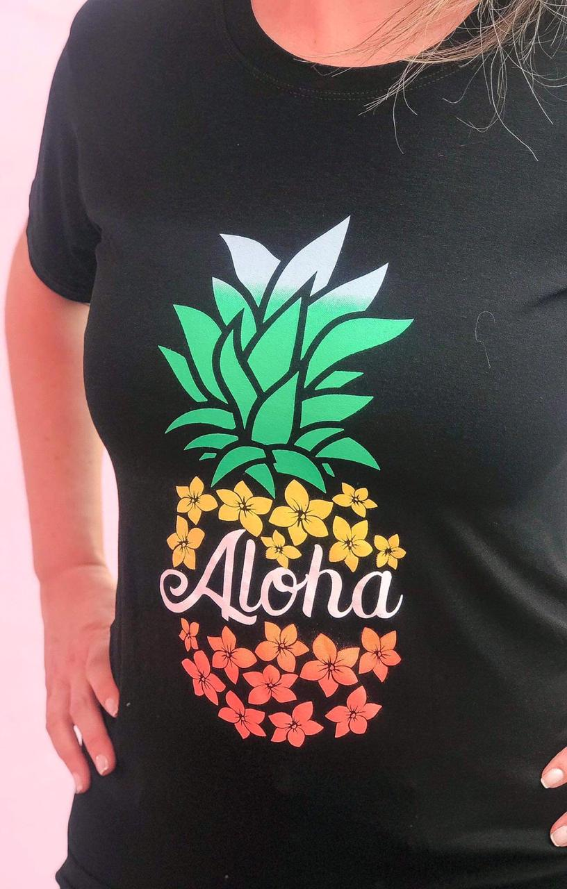 T-Shirt Aloha Preto