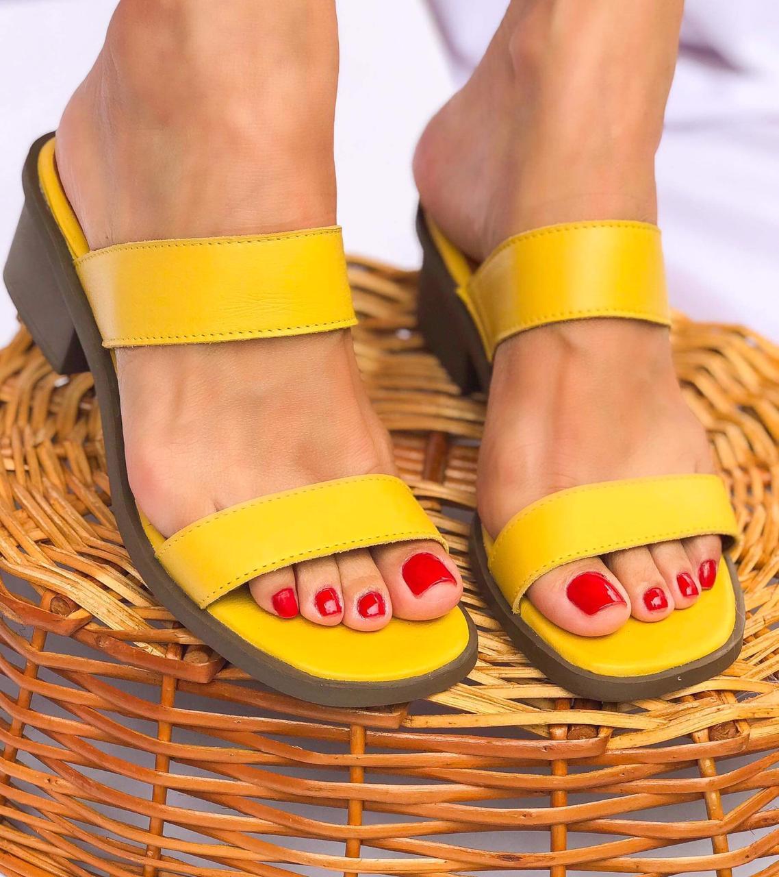 Tamanco Lisa Amarelo