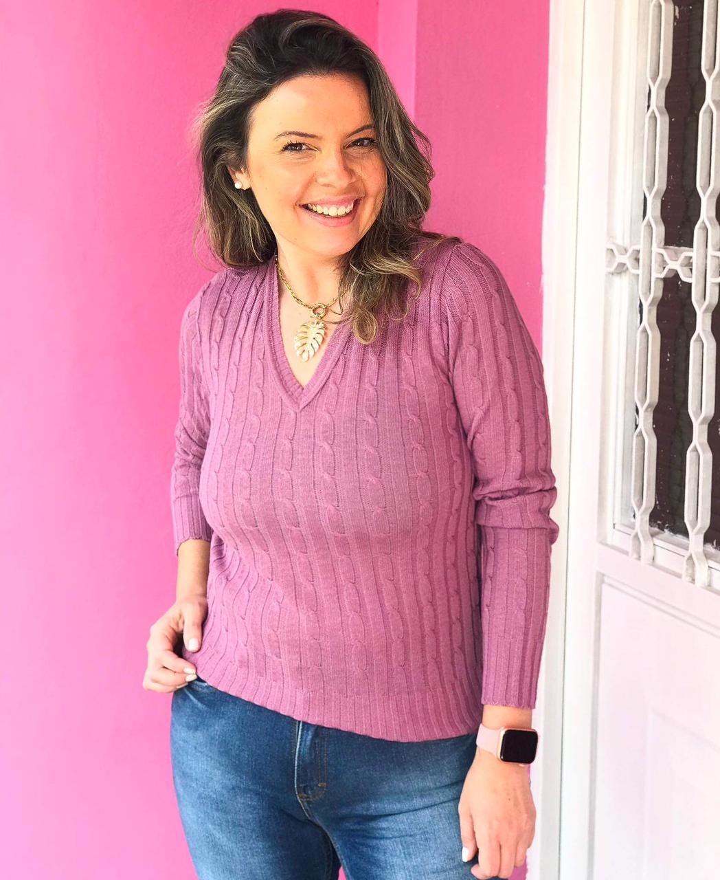 Tricot Julie Lilás