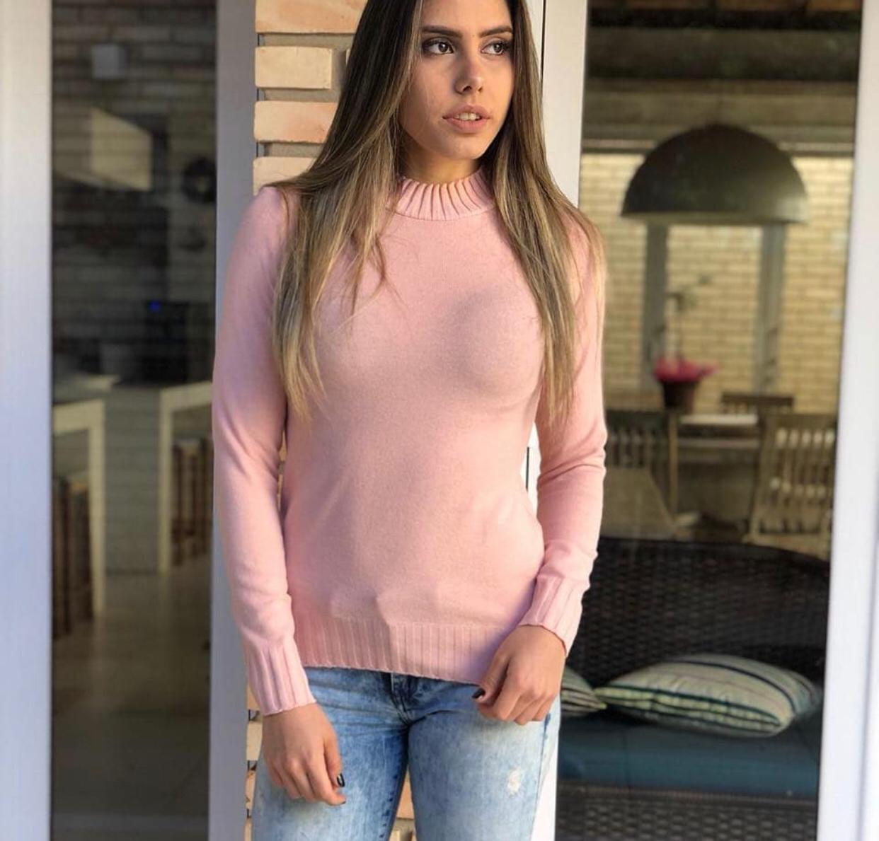 Tricot Rebeca Rosa Bebê