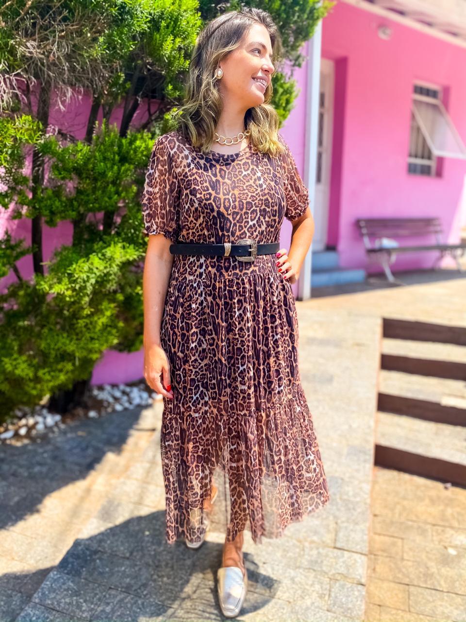 Vestido Fabí Onça