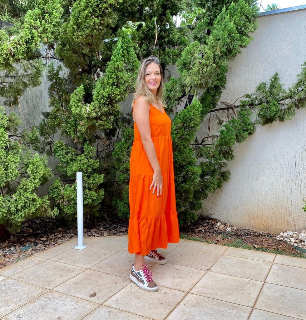 Vestido Livi Laranja