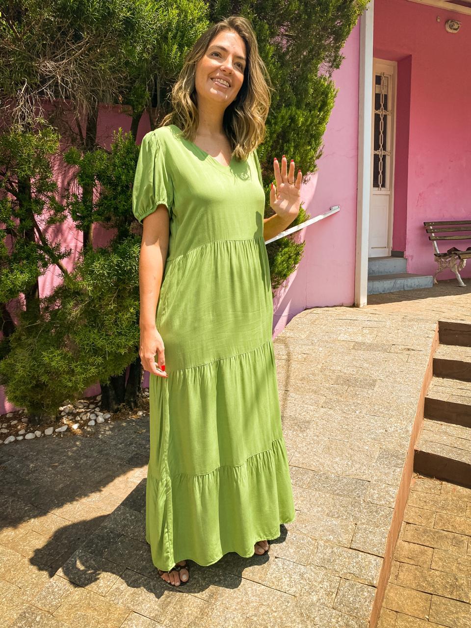 Vestido Longo Maya Verde
