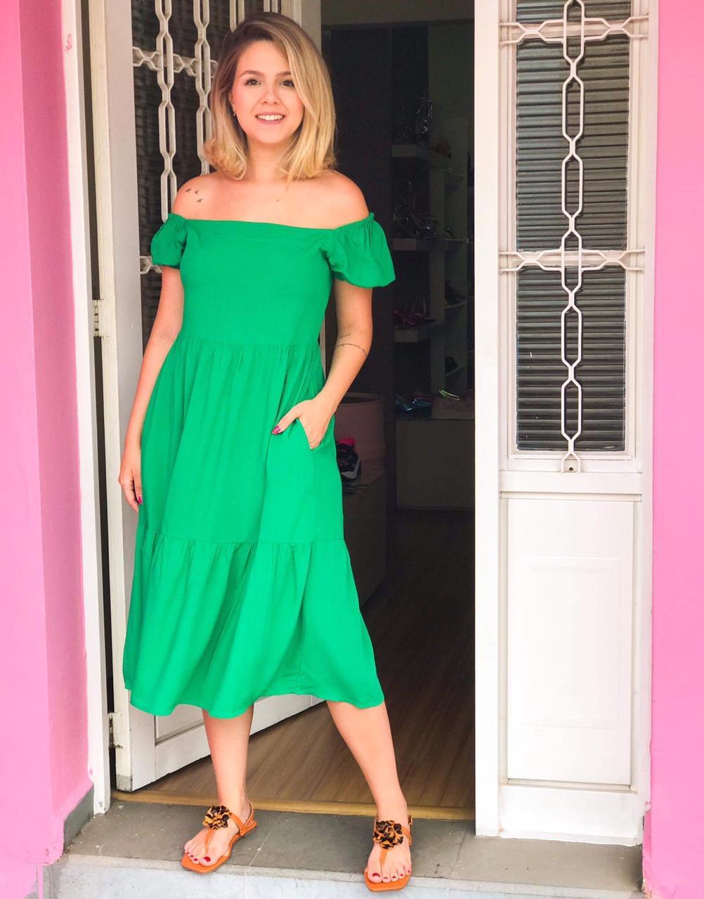 Vestido Tábata Verde