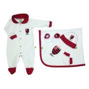 Saída de Maternidade Branca Futebol Flamengo