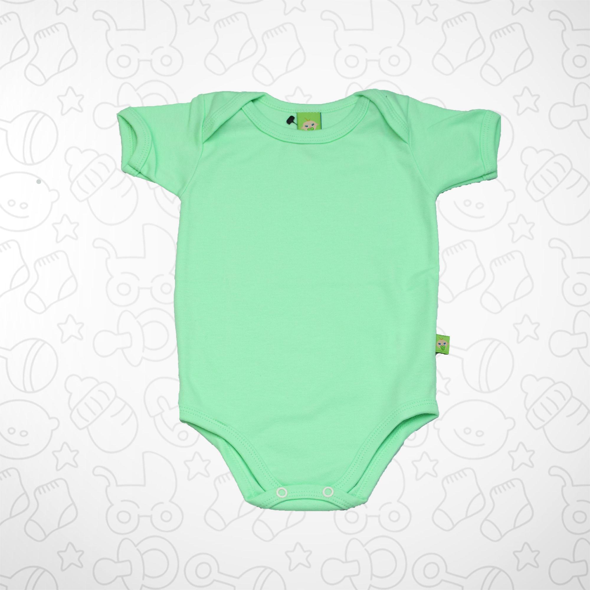 Body Verde Claro Claro Manga Curta