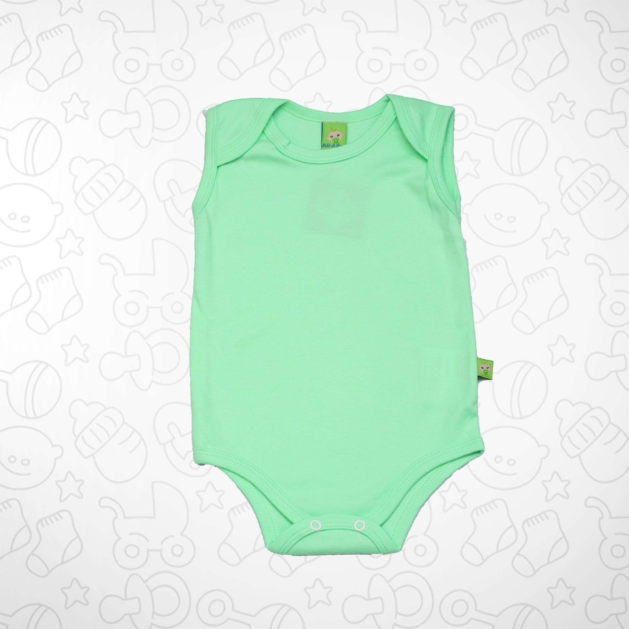 Body Verde Claro Sem Manga