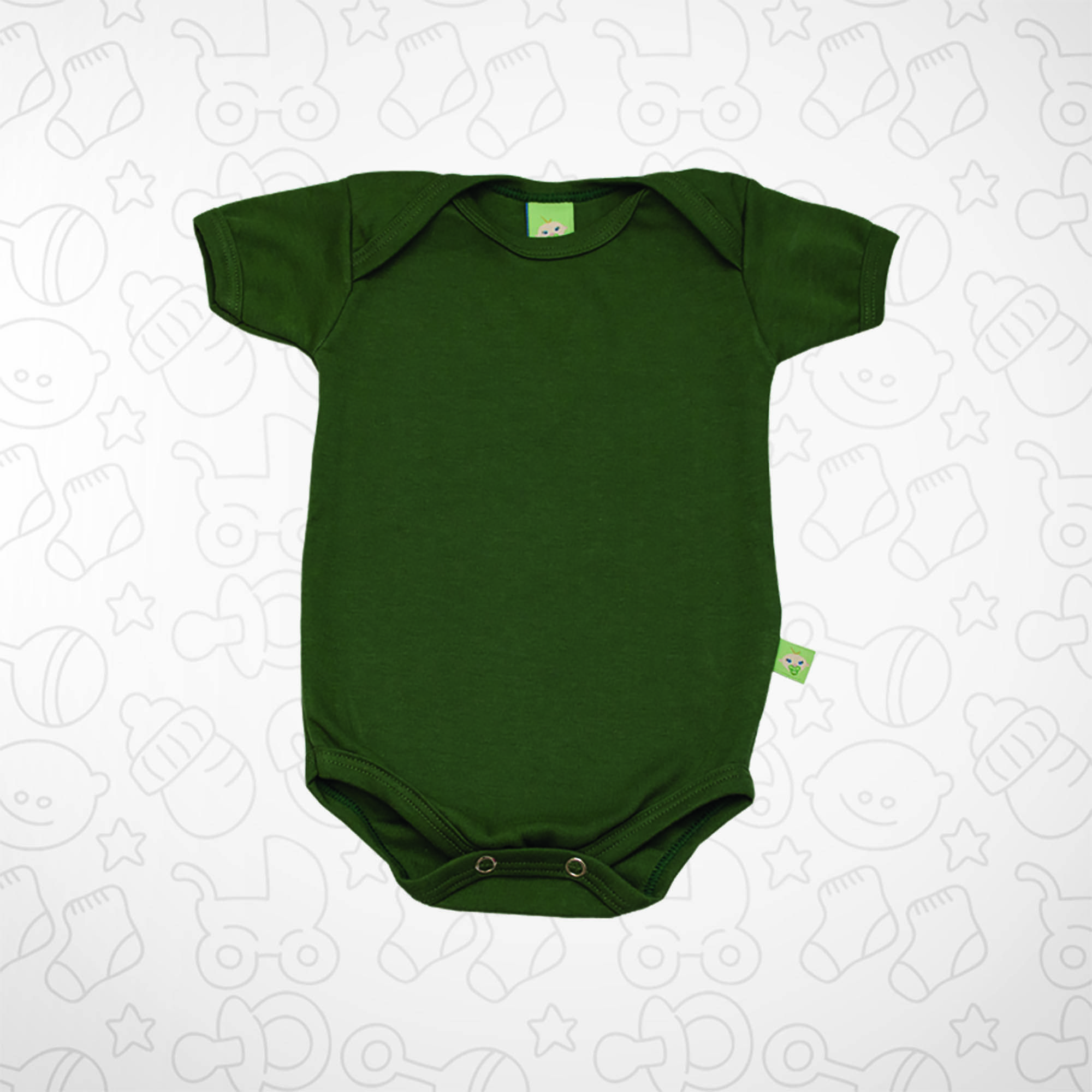 Body Verde Escuro Manga Curta