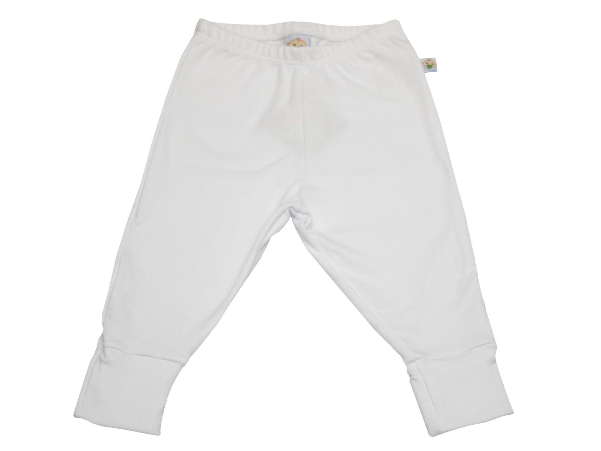 Calça Branco Vira Pé