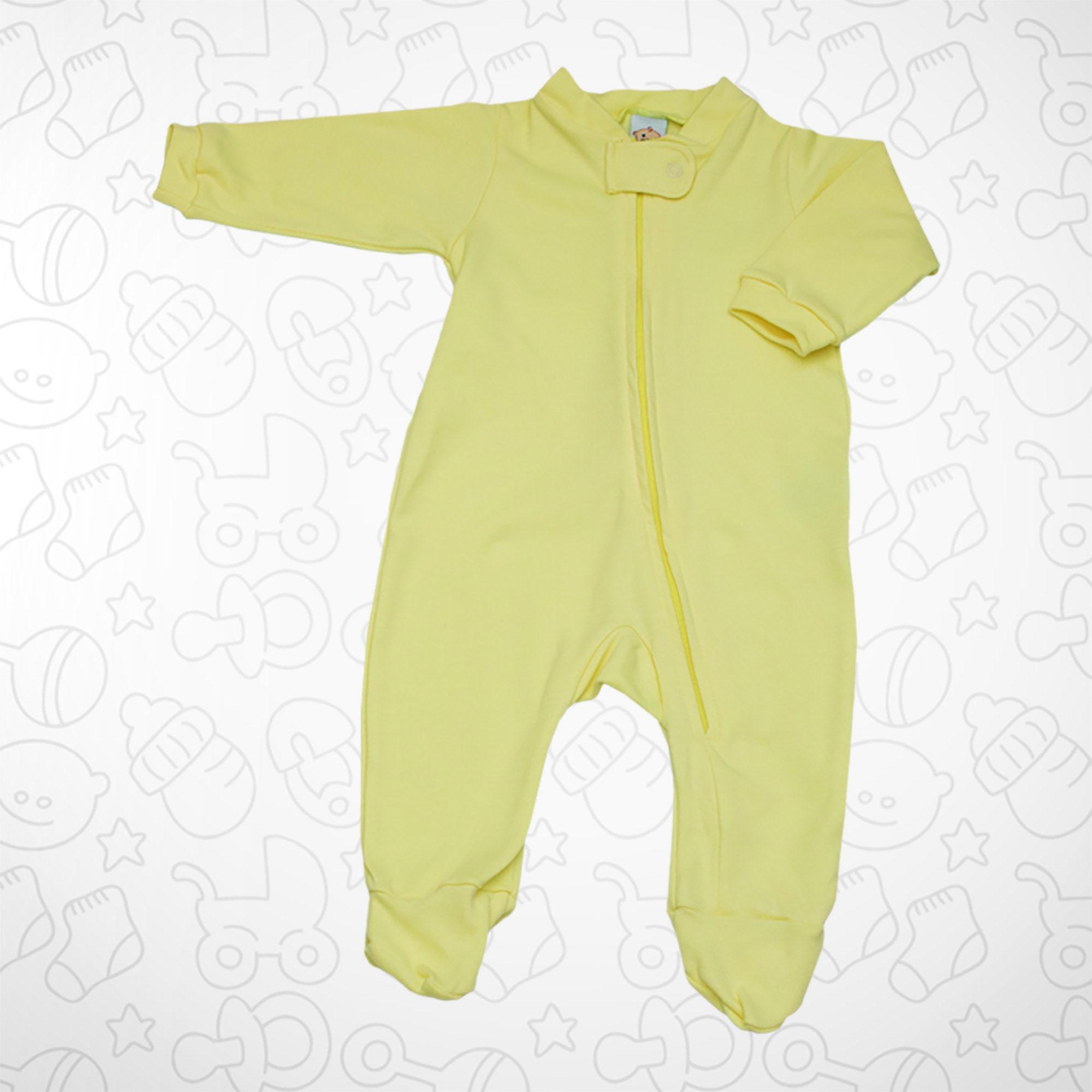 Macacão Amarelo com Zipper