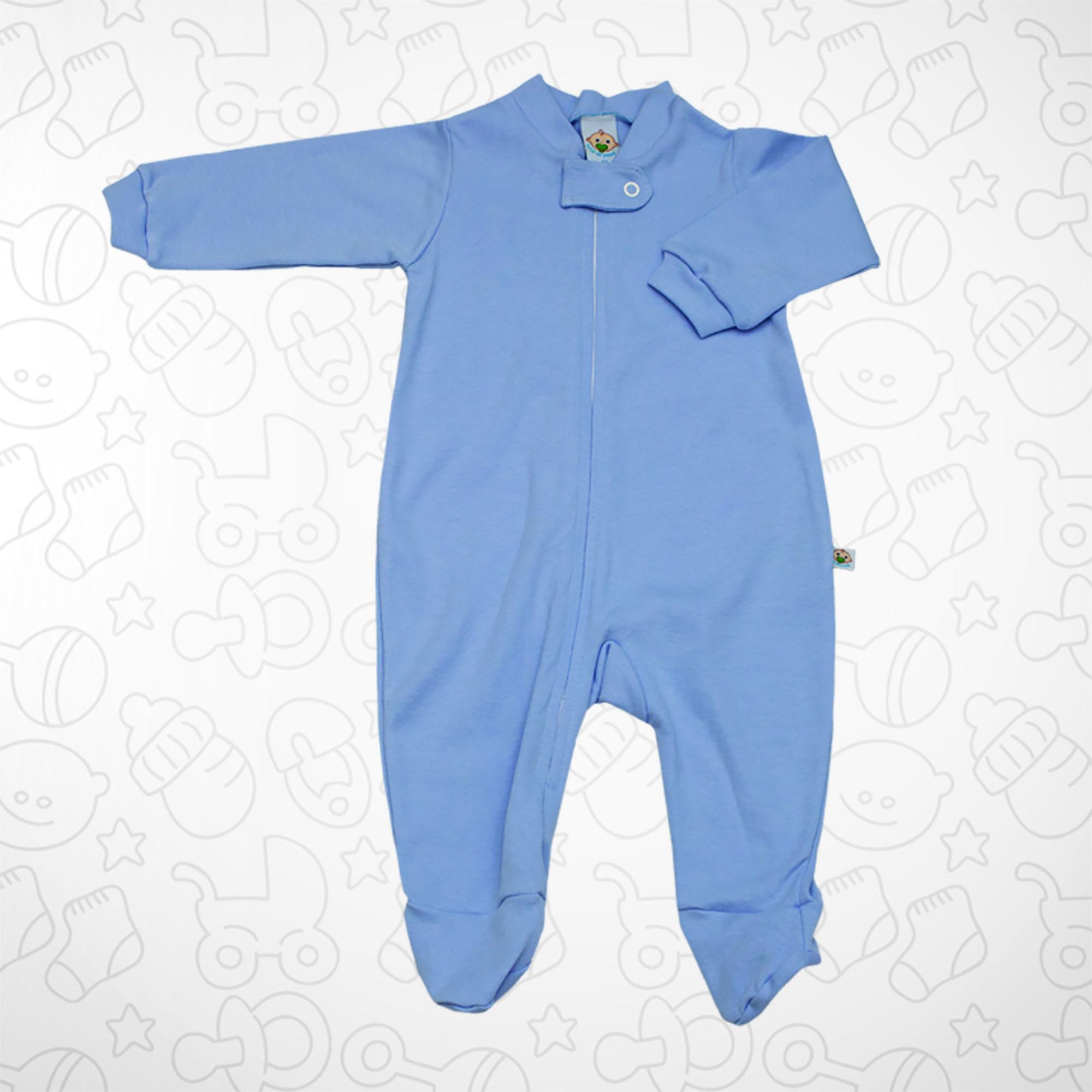 Macacão Azul Claro com Zipper