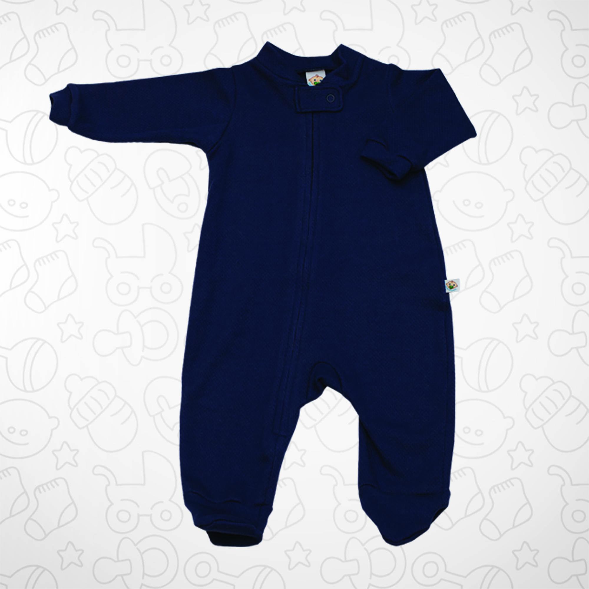 Macacão Azul Marinho com Zipper