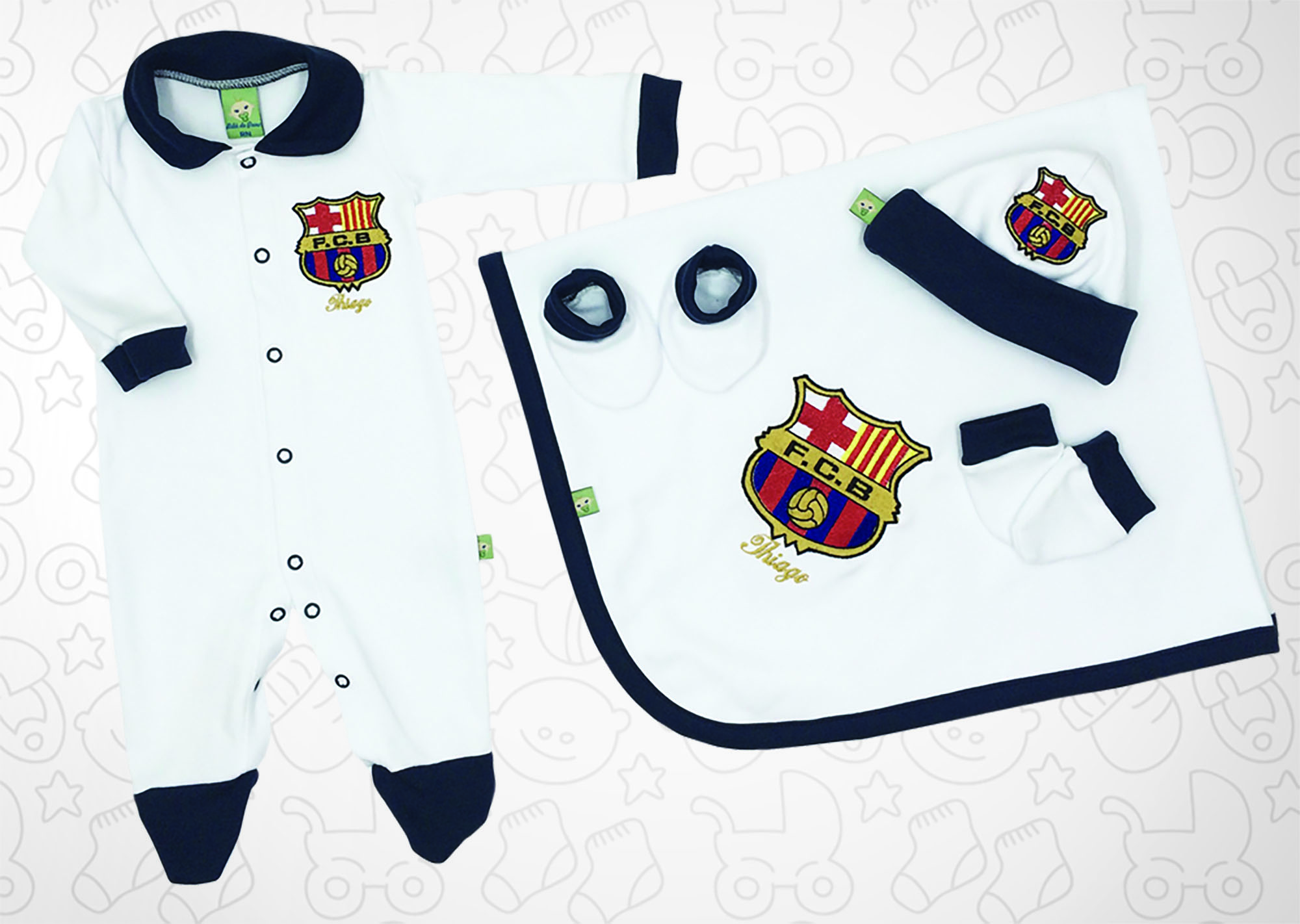 Saída de Maternidade Branca Futebol Barcelona