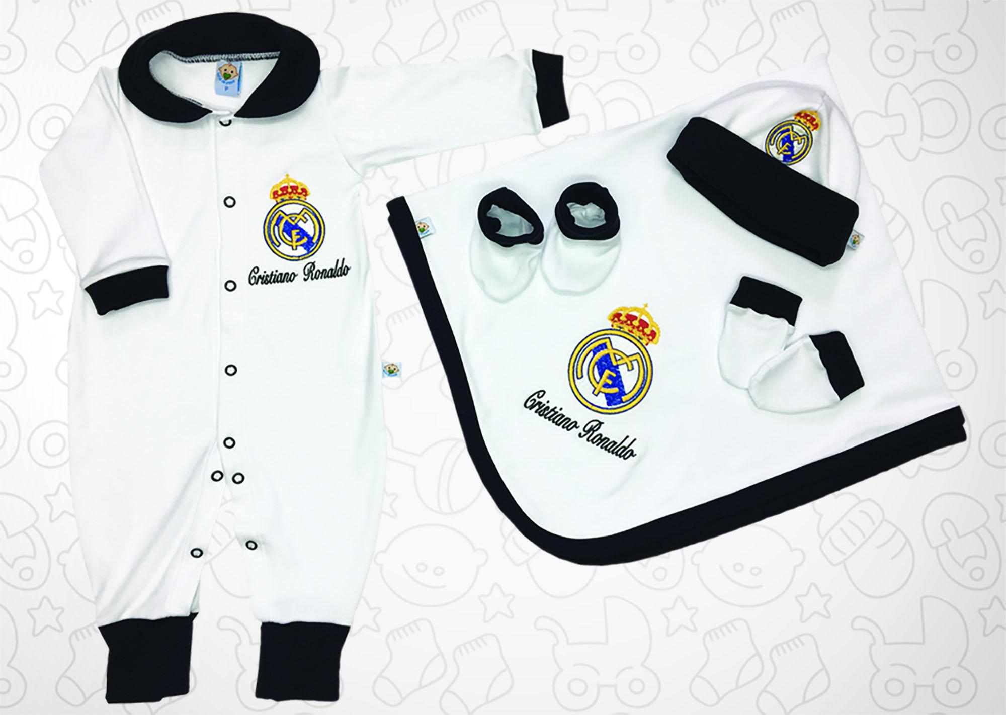 Saída de Maternidade Branca Futebol Real Madrid