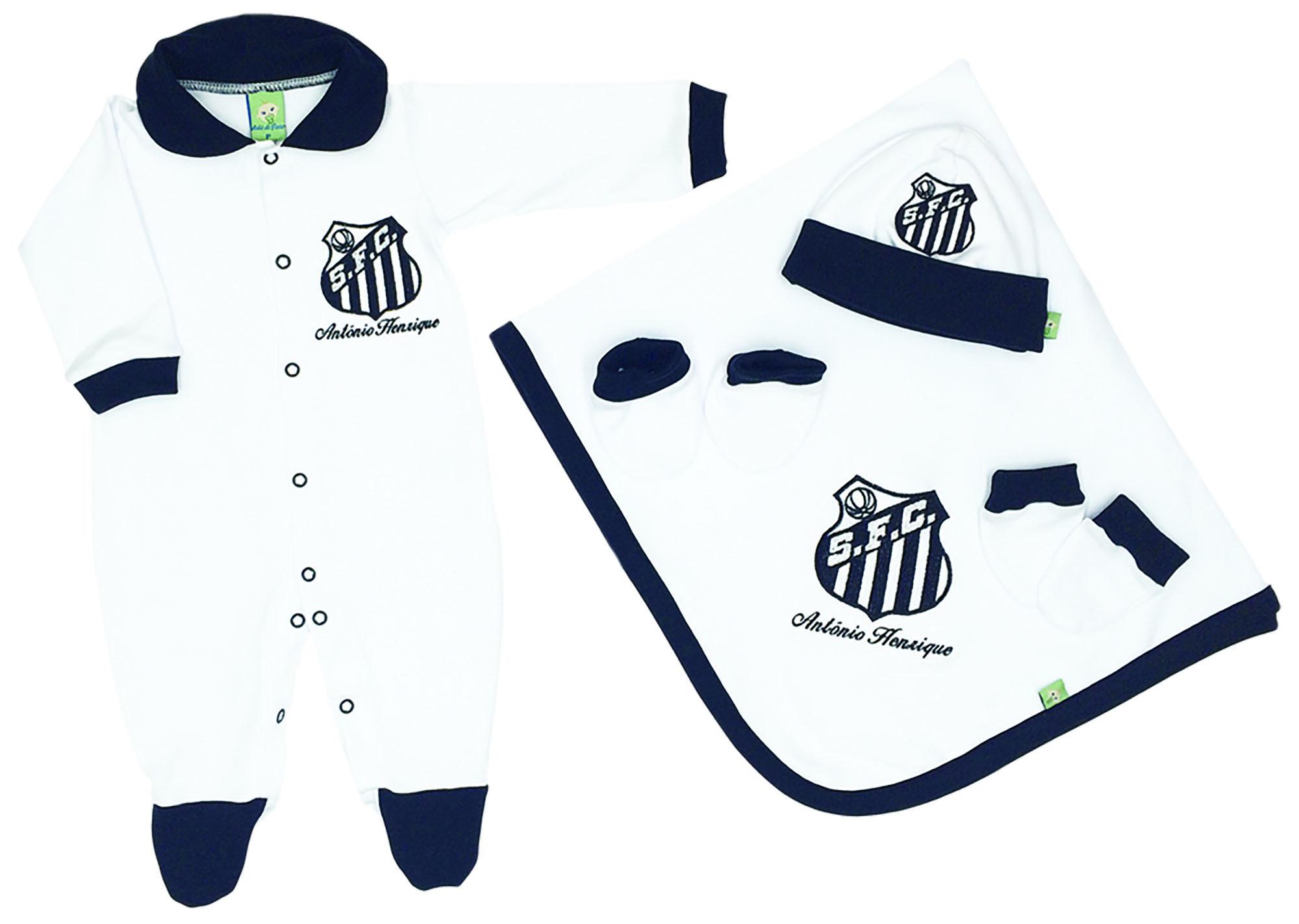 Saída de Maternidade Branca Futebol Santos