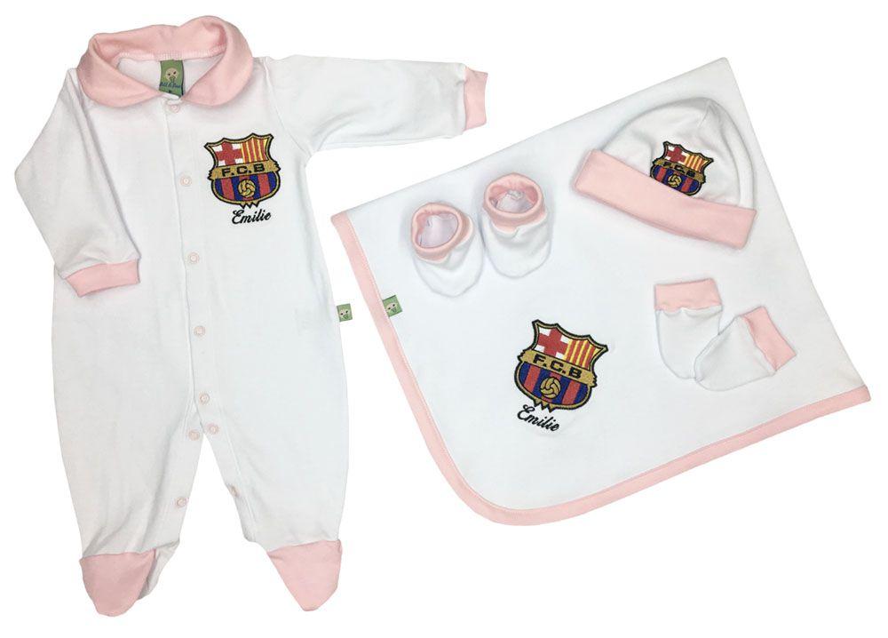 Saída de Maternidade Rosa Futebol Real Madrid