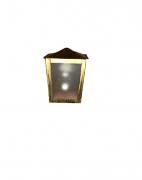 Arandela de Parede Externa Mini De Aço Ouro Bivolt E-27