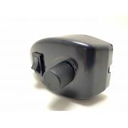 Chave Rotativa Trio Preta Para ventiladores Oscilantes c/ Luz
