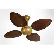 Ventilador de Teto Office Jet Venti-Delta Gold 4Pás Rattan Tabaco 110V+Controle