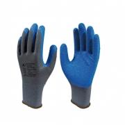 Kit 10 Pares Luva de segurança Super Safety ss1005 Cinza C/ Azul Tam. 7(P)