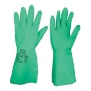 Kit 10 Pares Luva Nitrilica Super Nitro Green Tam. 7(P) Verde