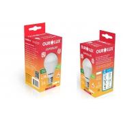 Kit 2 Lampadas LED 4,7W OuroLux Bivolt Branca 6500K