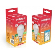 Kit 2 Lampadas LED 6W OuroLux Bivolt Branca 6500K