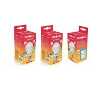 Kit 3 Lampadas LED 6W OuroLux Bivolt Branca 6500K