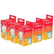 Kit 5 Lampadas LED 15W OuroLux Alta Potencia Bivolt Branca 6500K