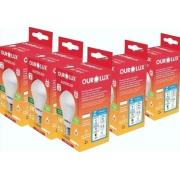 Kit 5 Lampadas LED 6W OuroLux Bivolt Branca 6500K
