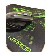 Kit Mouse 2400 DPI e Mouse Pad Gamer Multilaser Verde