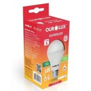 Lampada LED 6W OuroLux Bivolt Branca 6500K